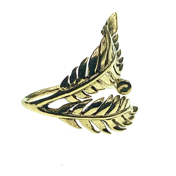 Tropical Leaf Ring made of bronze | Tribu London