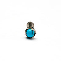 Turquoise threadless Tragus