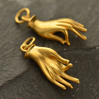 Gold or Silver Plated Mudra Charm