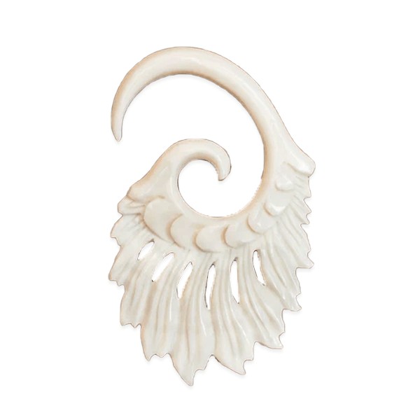 Wing Bone Gauge Hook  Earring
