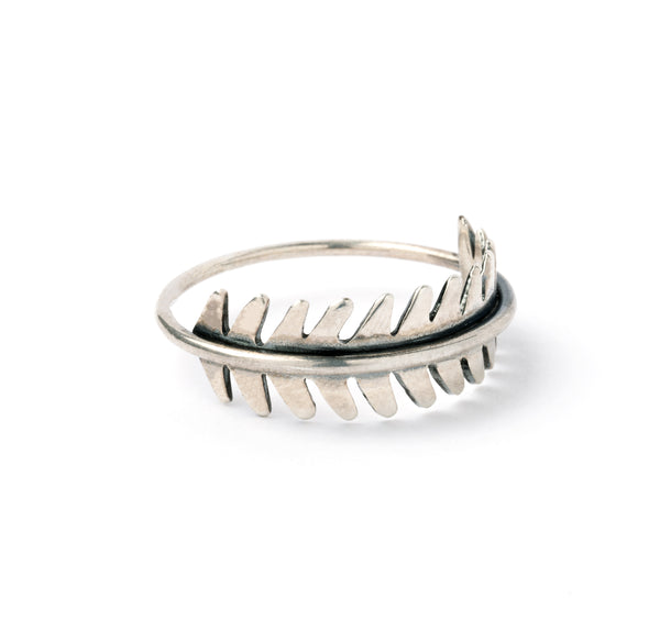 Wrapped Leaf Silver Ring