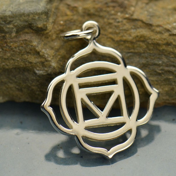 Root Chakra Silver Charm Pendant