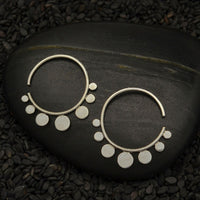 Silver Hook Dot Earrings | Tribu Jewellery London