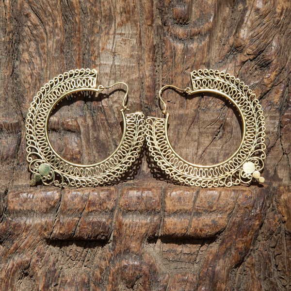 Salinas Brass Hoop Earrings