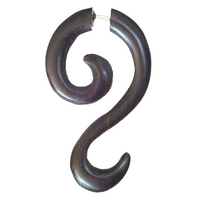 Tuhu  Black Wood fake Gauge Earring