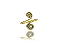 Brass Two Spirals Toe Ring