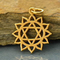 Gold Plated Heart Chakra Charm