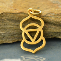 Golden Third Eye Chakra Charm