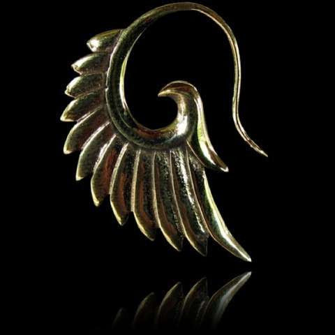 Wings Brass Hook Earrings - Tribu