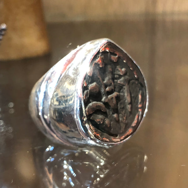 Ancient Coin - Hallmarked silver ring