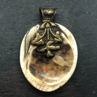 Naga Shell and Brass oval shape Pendant