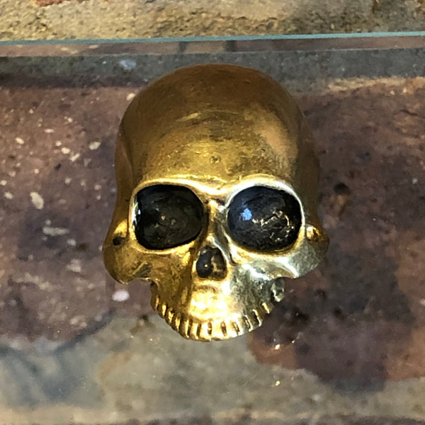 Bronze Skull Brooch