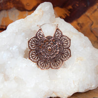 Intricate Copper Flower Mandalas