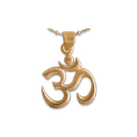 ohm charm necklace 24k gold plated pendant