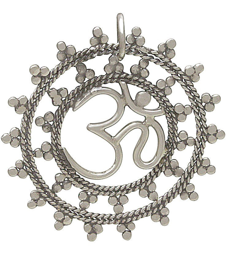 Large Intricate Ohm Charm