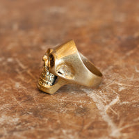 Solid Brass Skull Ring