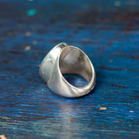 Hallmarked Silver Ring With Turquoise