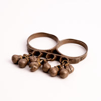 Antique Silver Double Ring