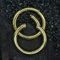 Large Brass Hoop Ear Weights
