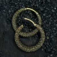 Nagini Brass Hoop Ear Weights
