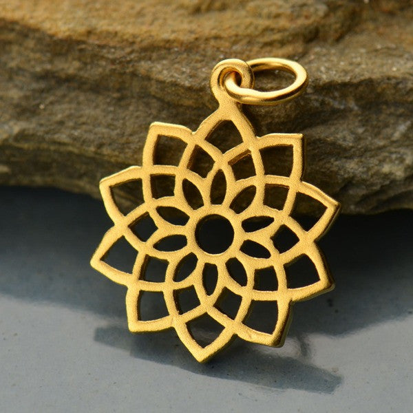 Crown Chakra 24K Gold Plated Charm