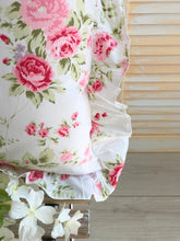 Shabby Floral Throw Pillow