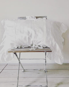Ruffled Farmhouse Euro Shams Set of 2