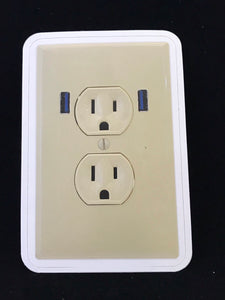 cursed outlet fake power and usb vinyl sticker life size