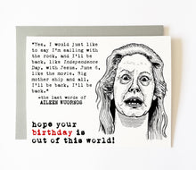 AILEEN WUORNOS birthday card