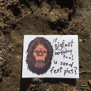 BIGFOOT birthday card