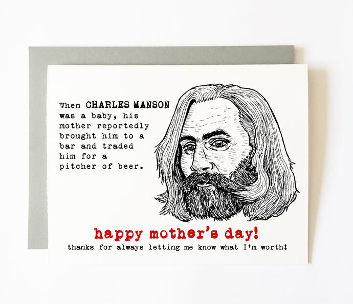 CHARLES MANSON mother's day card