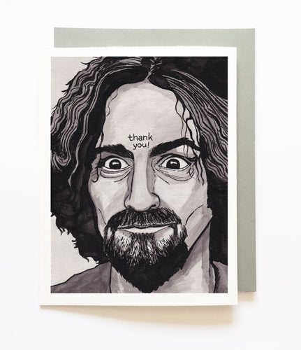 CHARLES MANSON thank you card
