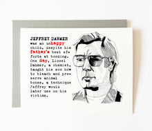 JEFFREY DAHMER father's day card