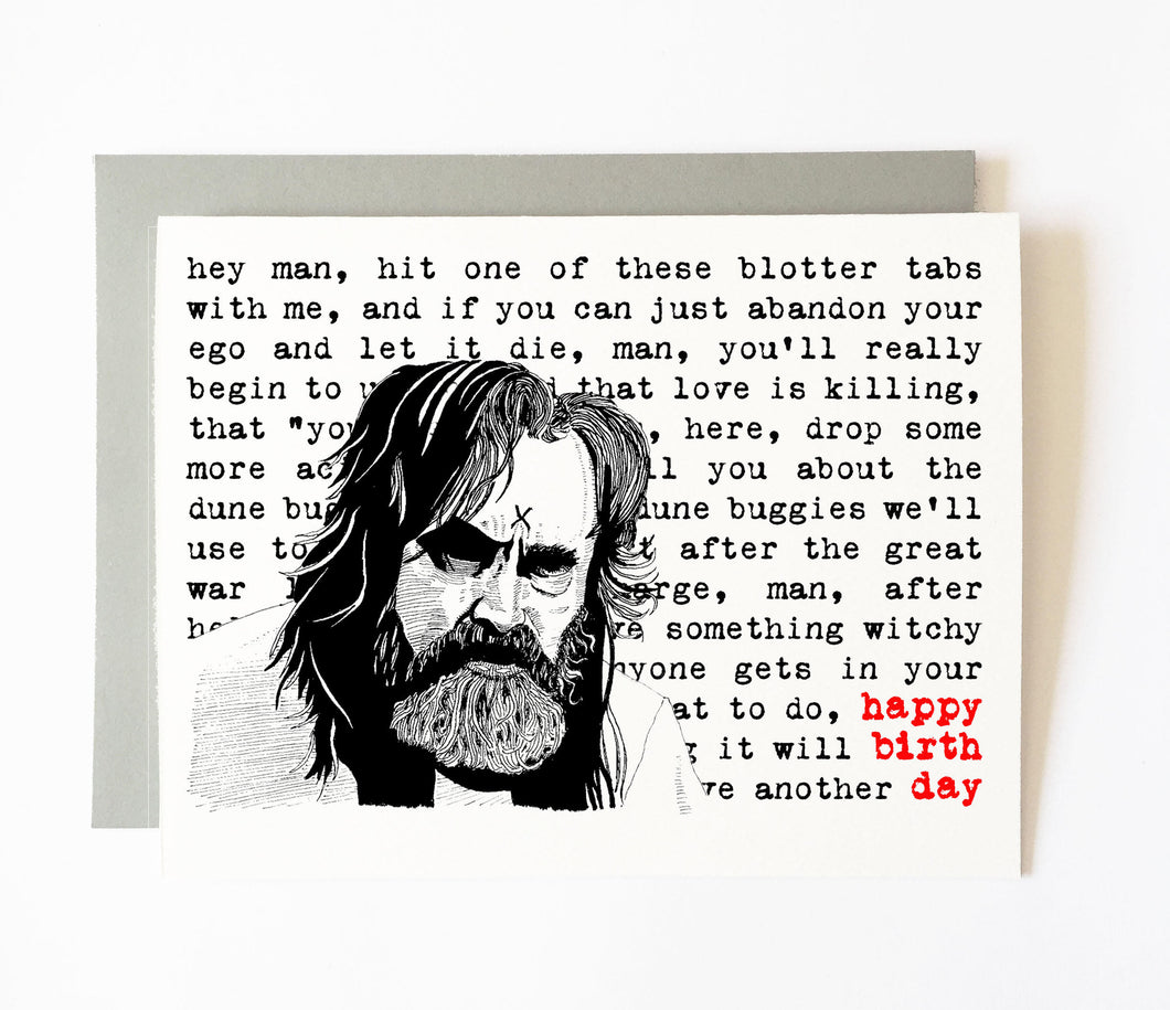 CHARLES MANSON birthday card