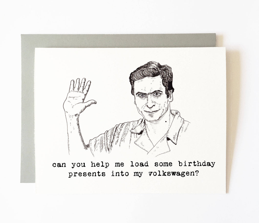 TED BUNDY birthday card
