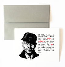 ED GEIN mother's day card