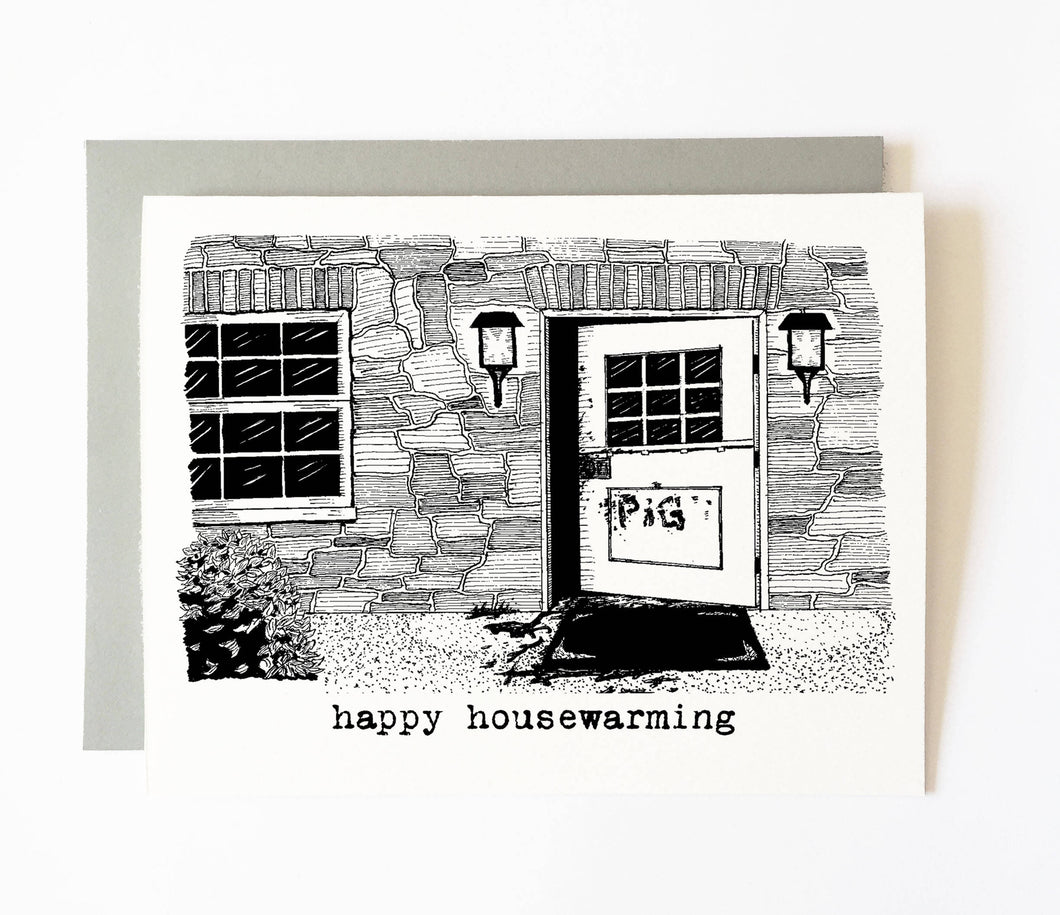 MANSON FAMILY housewarming card