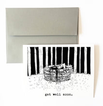 RING GIRL get well soon card