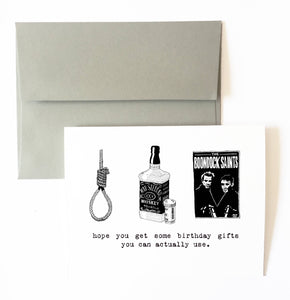 SUICIDE birthday card