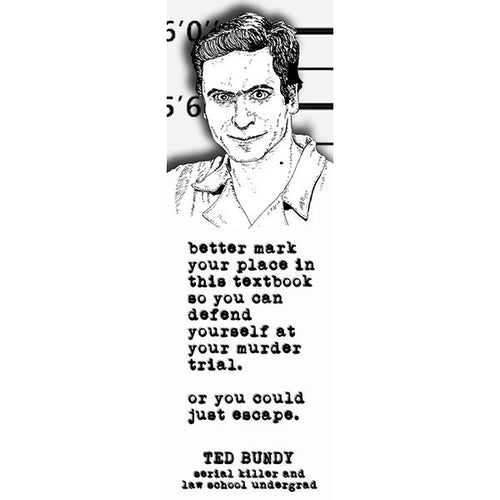 TED BUNDY bookmark