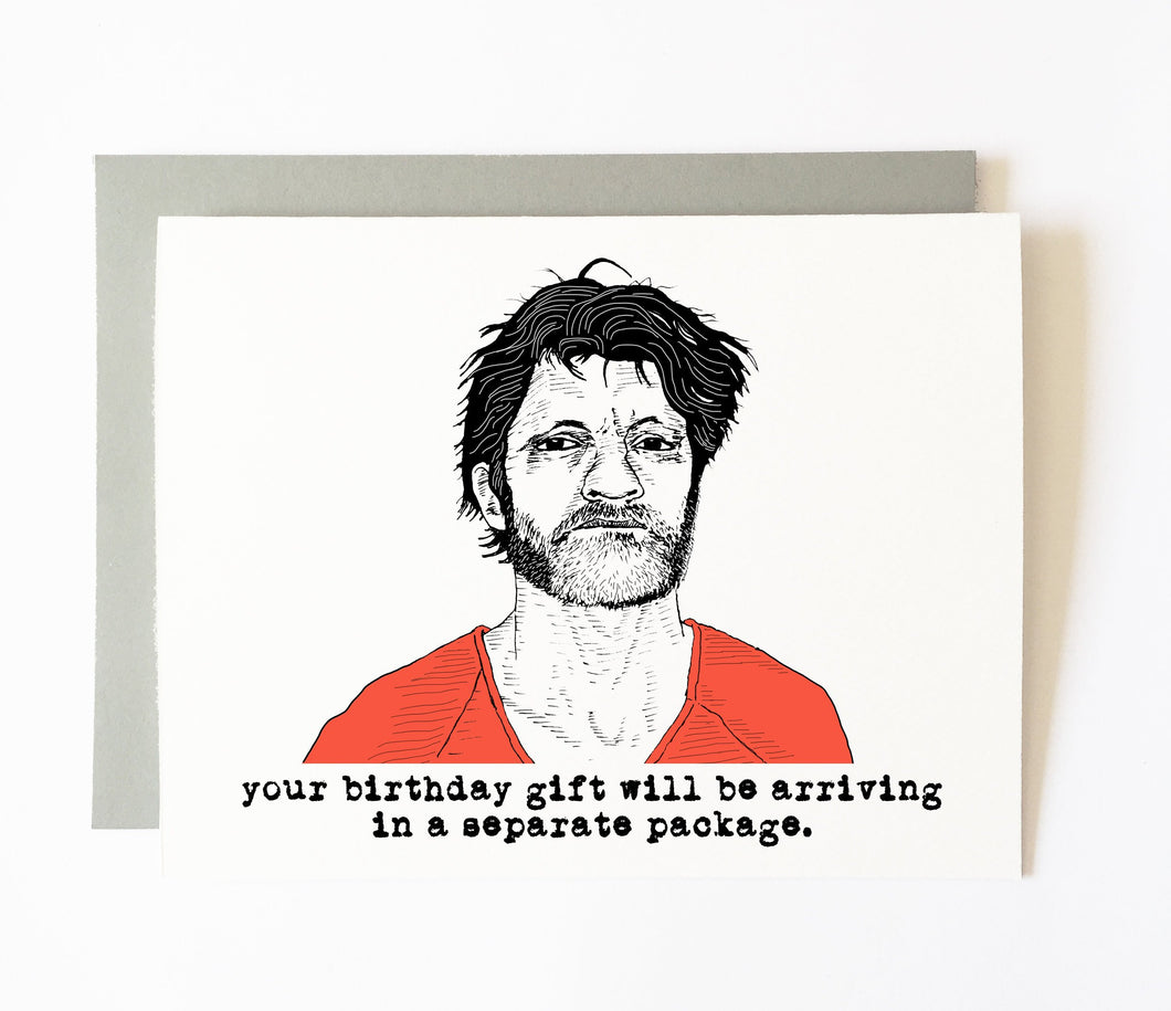 UNABOMBER birthday card
