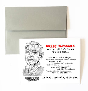ROBERT DURST birthday card