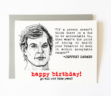 JEFFREY DAHMER birthday card