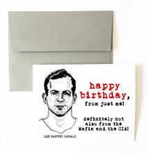 LEE HARVEY OSWALD birthday card