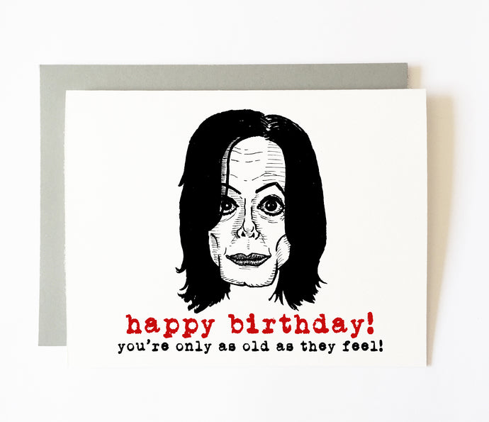 MICHAEL JACKSON birthday card