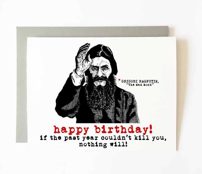 RASPUTIN birthday card