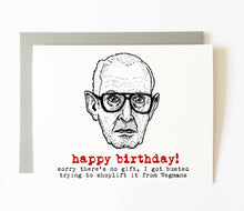 "ROBERT DURST birthday card (""awaiting trial"" variant)"