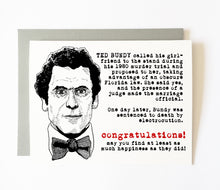 TED BUNDY wedding card