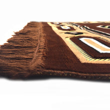 Load image into Gallery viewer, Al Arabia Muslim Prayer Rug - Double Soft Plush Velvet Fabric - Turkish Kaaba Design Brown