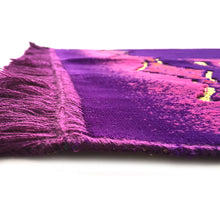 Load image into Gallery viewer, Turkish Islamic Prayer Rug Plush Velvet Janamaz Prayer Mat - Kaaba Design Purple - MuslimPrayerRug